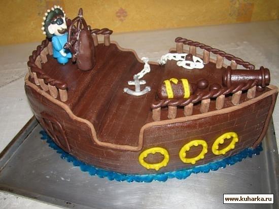 Торт из мастики пиратский корабль своими руками